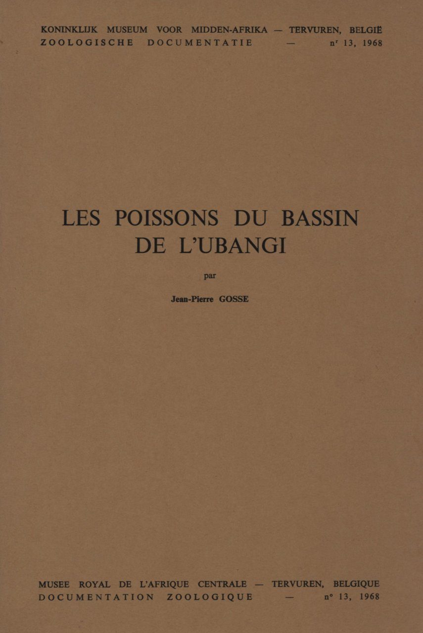 Les Poissons du Bassin de l'Ubangi [The Fish of the Ubangi Basin]