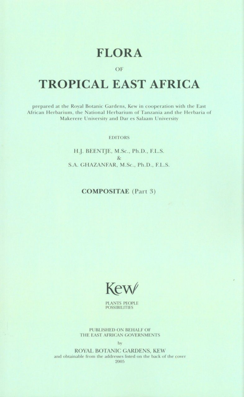 Flora of Tropical East Africa: Compositae, Part 3