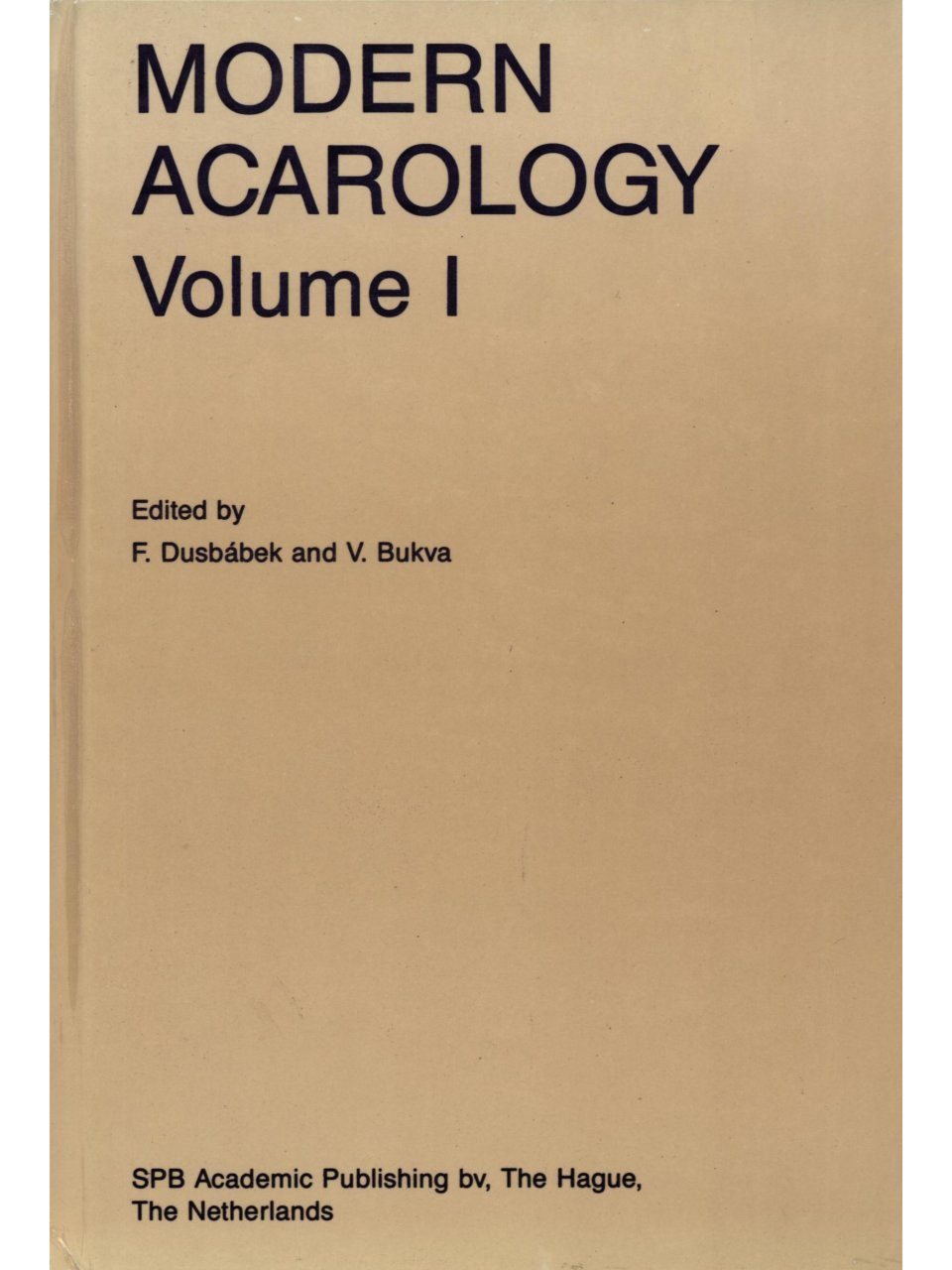 Modern Acarology (2-Volume Set)