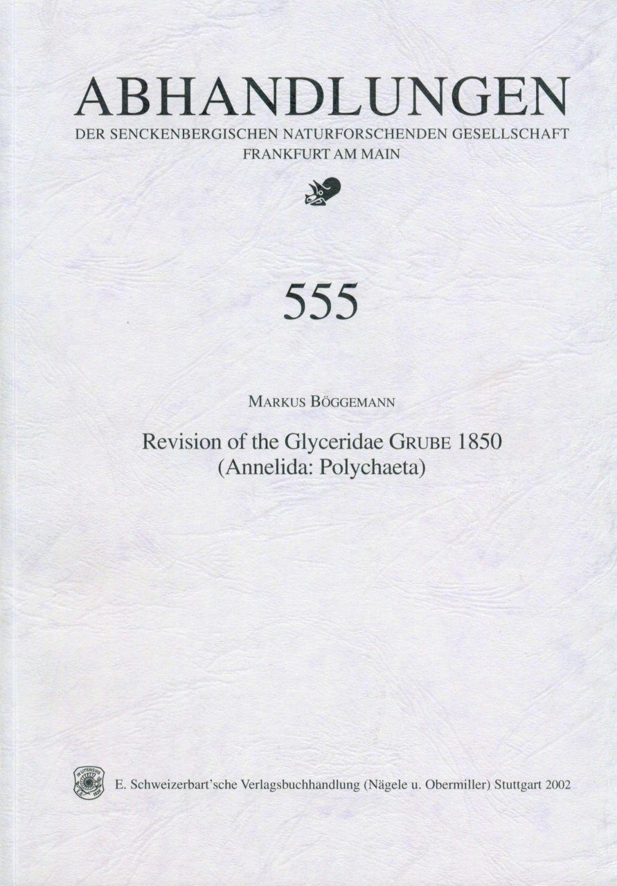 Revision of the Glyceridae Grube 1850