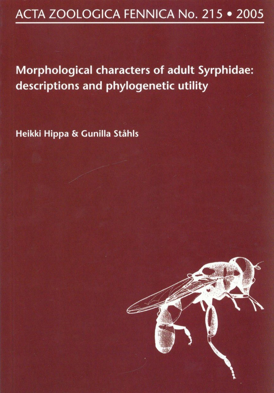 Acta Zoologica Fennica, Volume 215: Morphological Characters of Adult Syrphidae