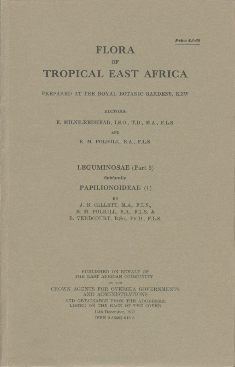 Flora of Tropical East Africa: Leguminosae, Part 3