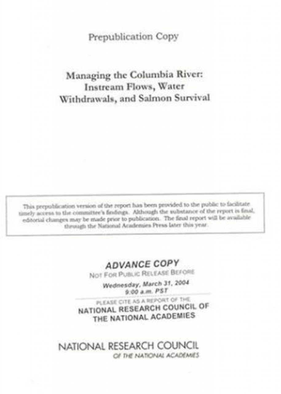 Managing the Columbia River