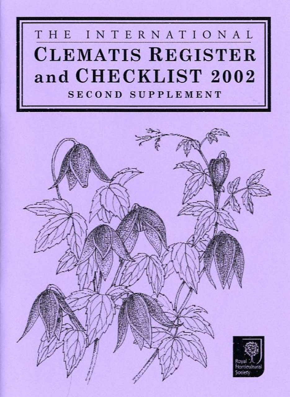 The International Clematis Register and Checklist 2002: Second Supplement