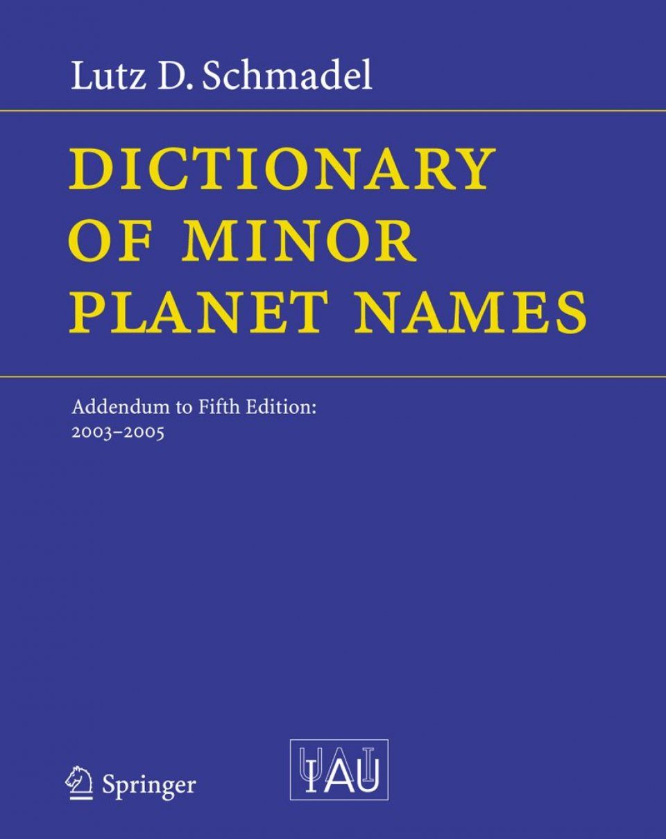Dictionary of Minor Planet Names: Addendum to 5th edition, 2003-2005