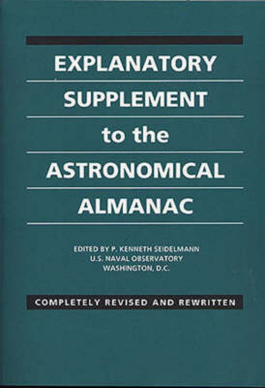 The Explanatory Supplement to the Astronomical Almanac