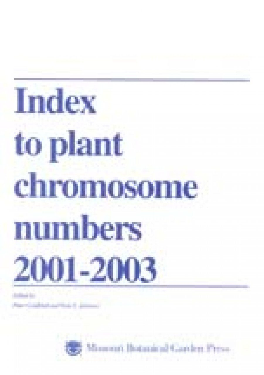 Index to Plant Chromosome Numbers, 2001-2003