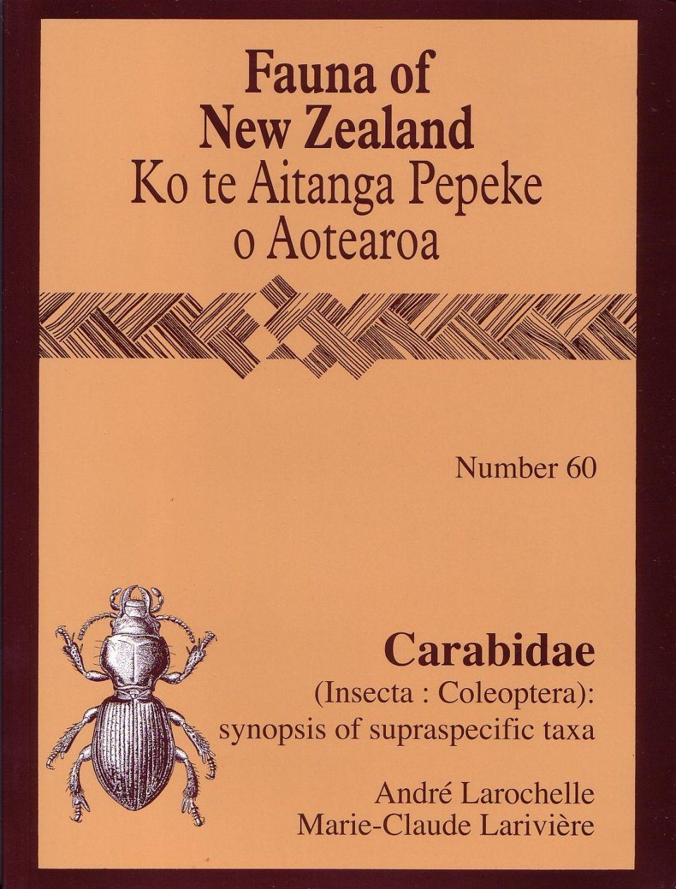 Fauna of New Zealand, No 60: Carabidae (Insecta: Coleoptera)
