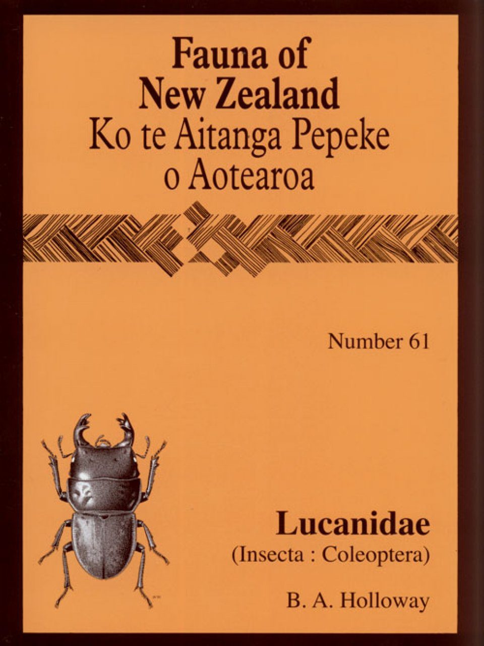 Fauna of New Zealand, No 61: Lucanidae (Insecta: Coleoptera)
