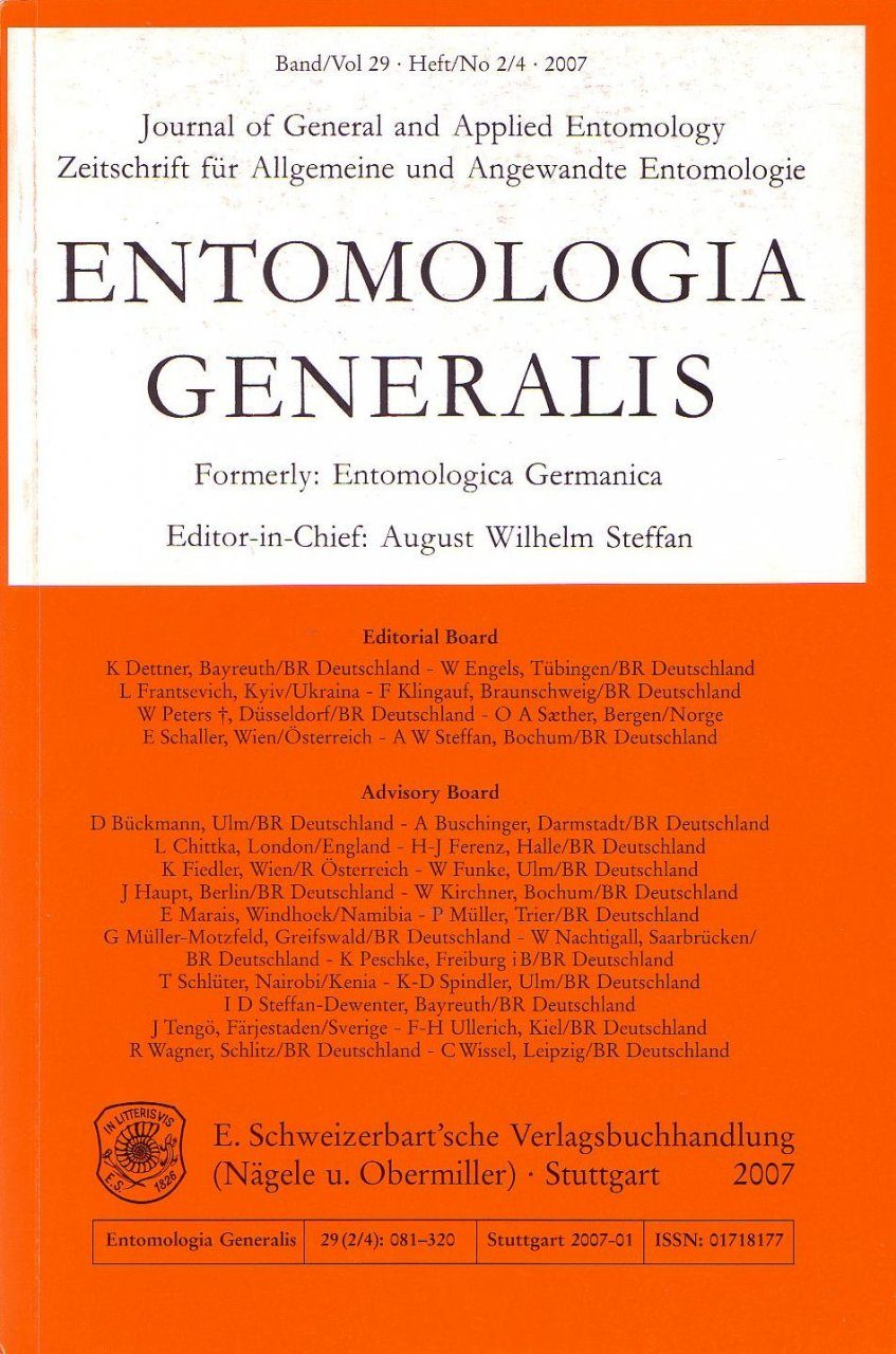 Entomologia Generalis Special Issue: Pollinator Behaviour and Plant-Insect Interactions I