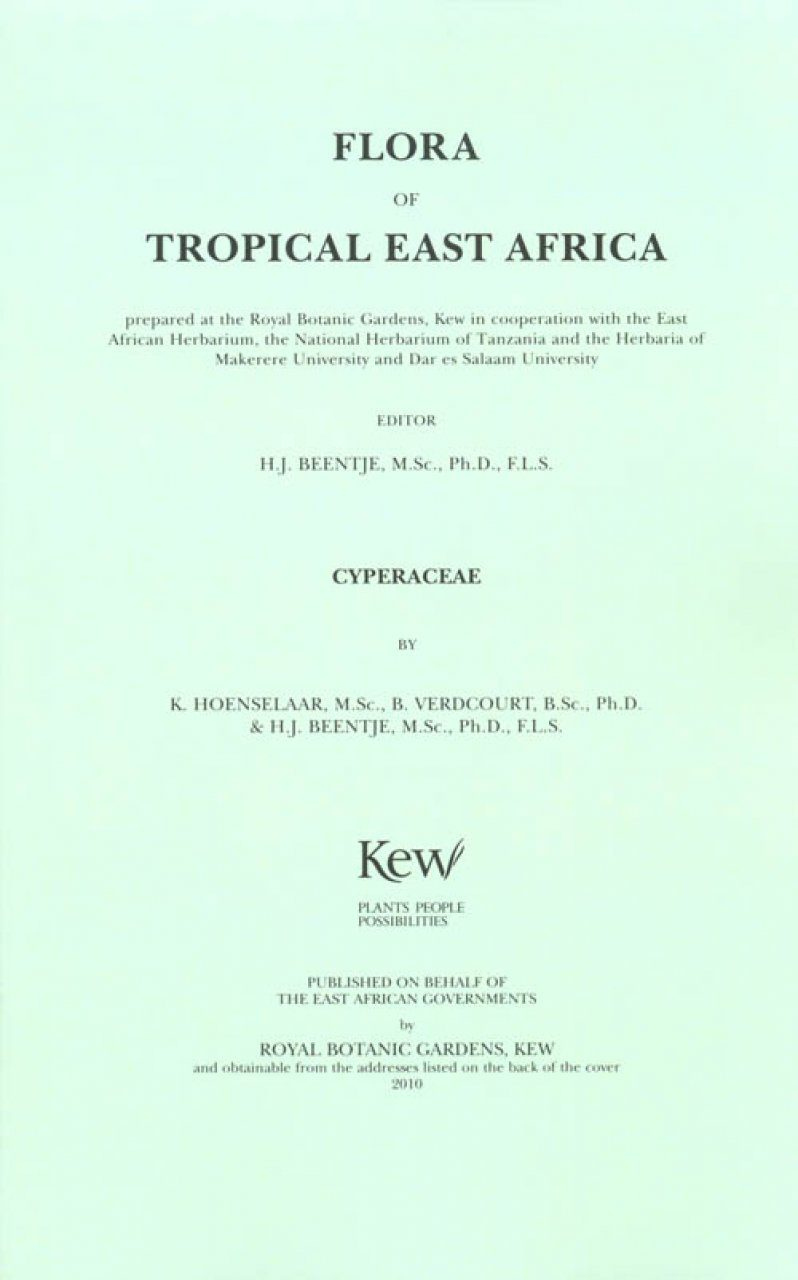 Flora of Tropical East Africa: Cyperaceae