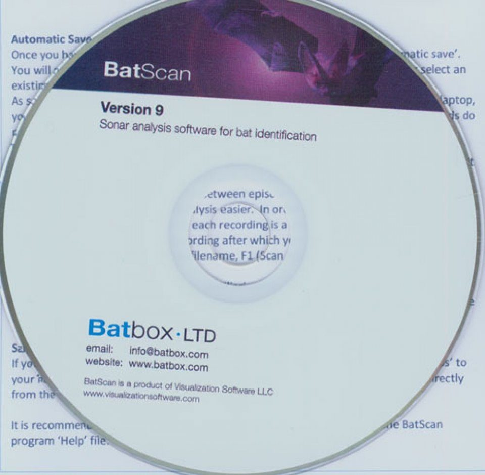 Batbox BatScan Software v 9.8