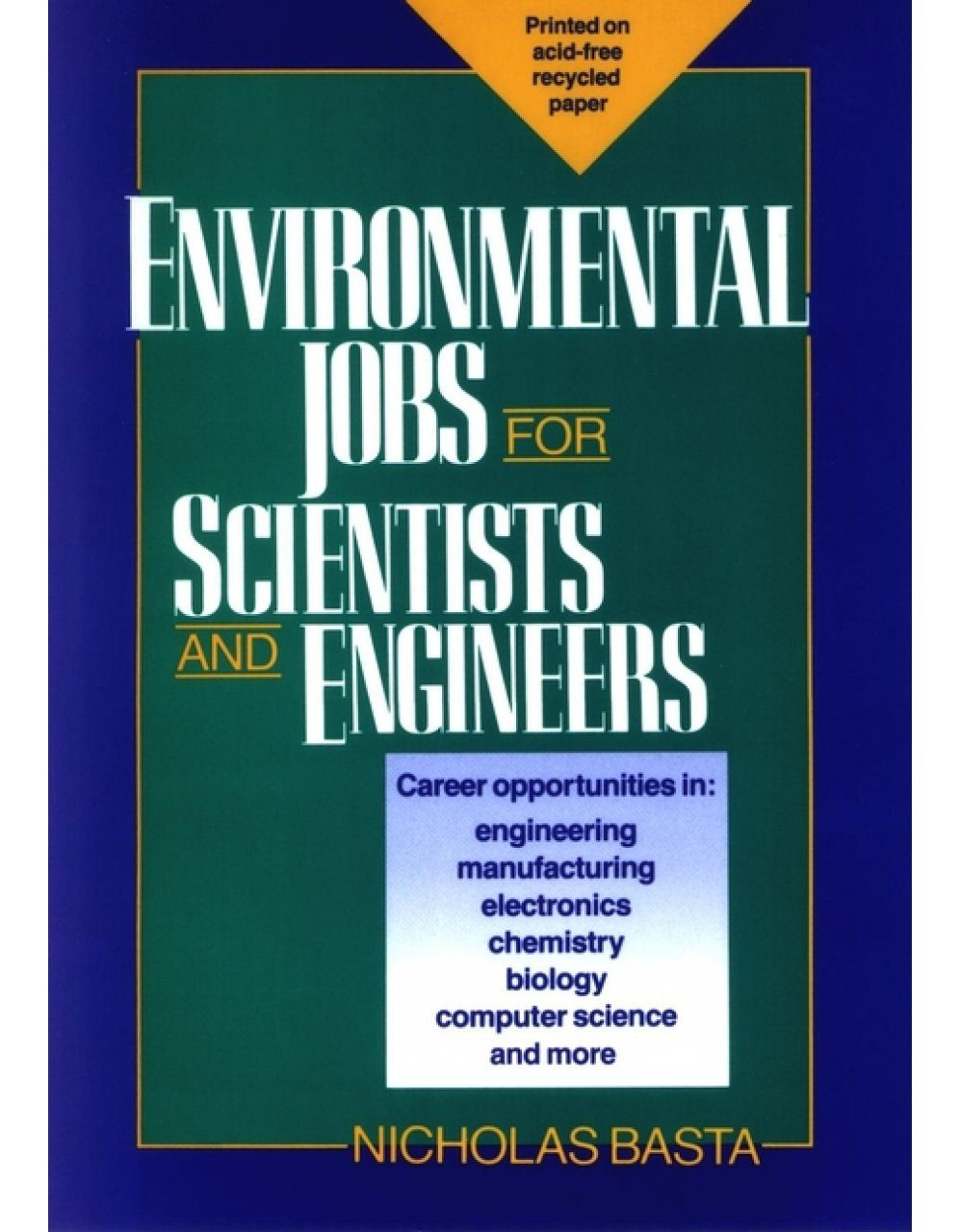 Environmental Jobs for Scientists and Engineers