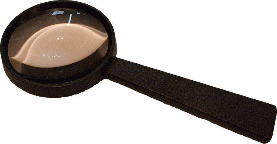 Large Magnifying Glass with Aspheric Lens