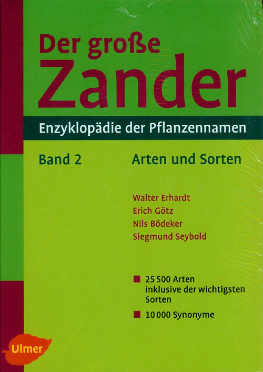 Der Grosse Zander: Enzyklopadie der Pflanzennamen (2-Volume Set) [The Large Zander: Encyclopaedia of Plant Names]