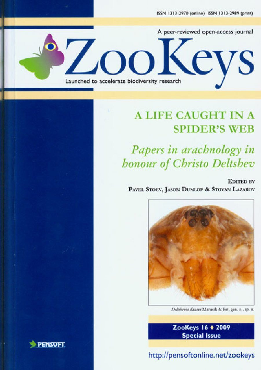 ZooKeys 16: A Life Caught in a Spider's Web. Papers in Arachnology in Honour of Christo Deltshev