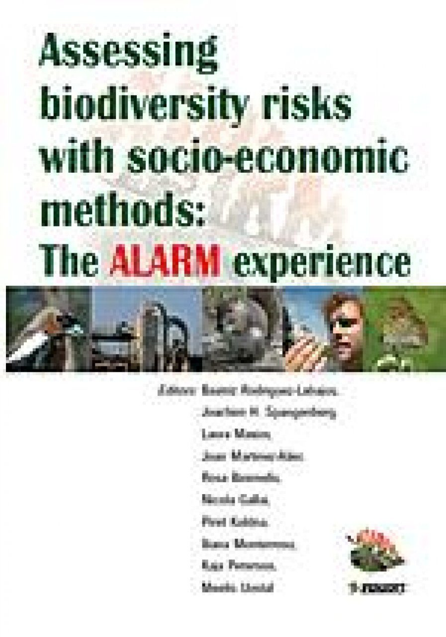 Assessing Biodiversity Risks with Socio-economic Methods
