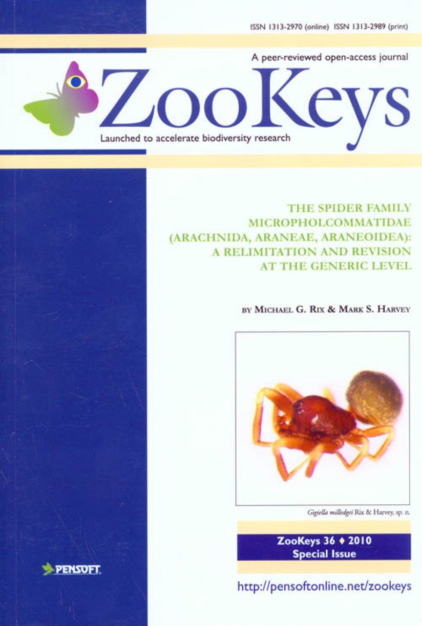 ZooKeys 36: The spider family Micropholcommatidae (Arachnida: Araneae: Araneoidea) A Relimitation and Revision at the Generic Level