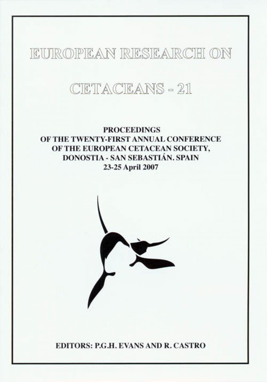 European Research on Cetaceans, Volume 21