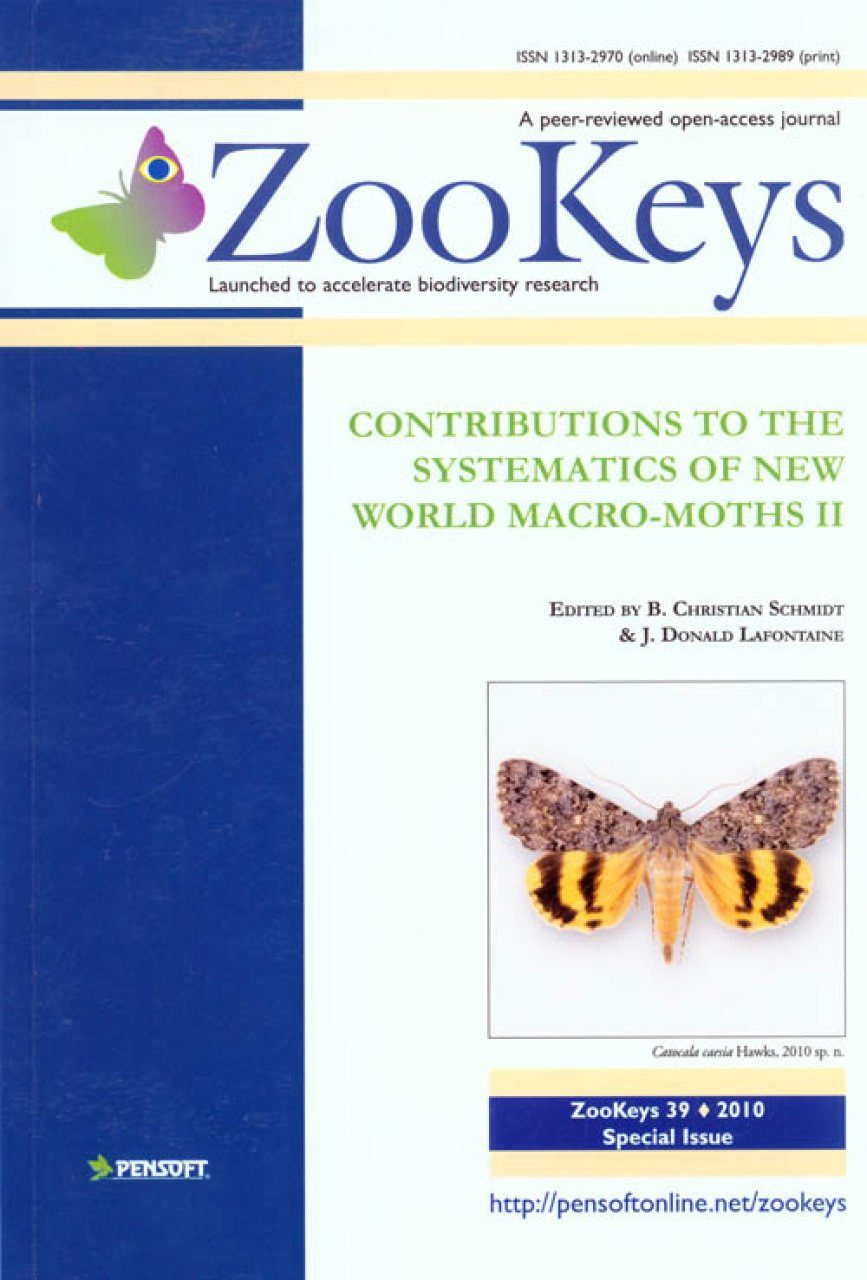 ZooKeys 39: Contributions to the Systematics of New World Macro-Moths II