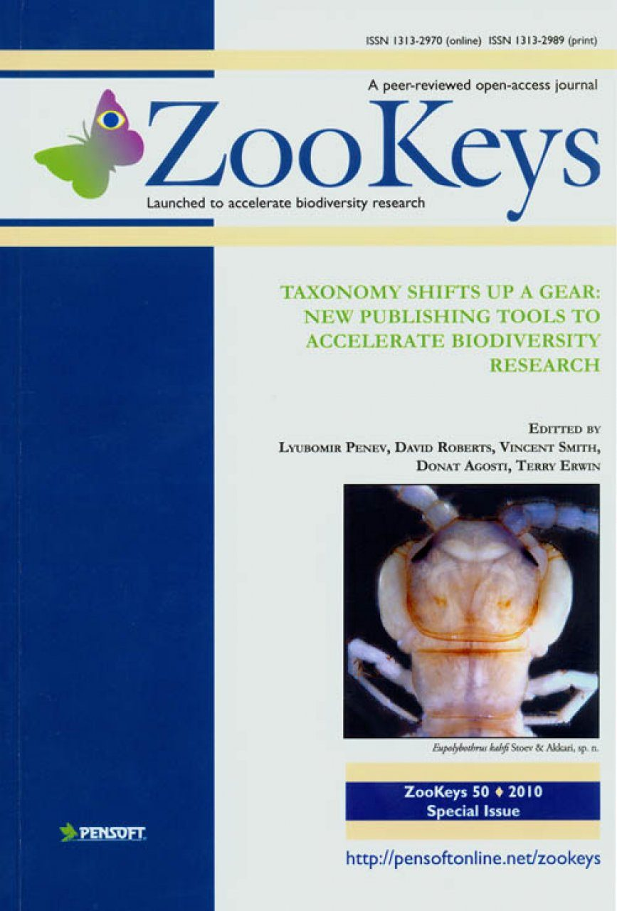 ZooKeys 50: Taxonomy Shifts up a Gear: New Publishing Tools to Accelerate Biodiversity Research