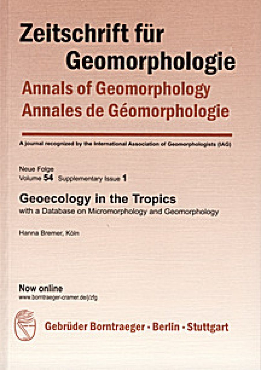 Geoecology in the Tropics