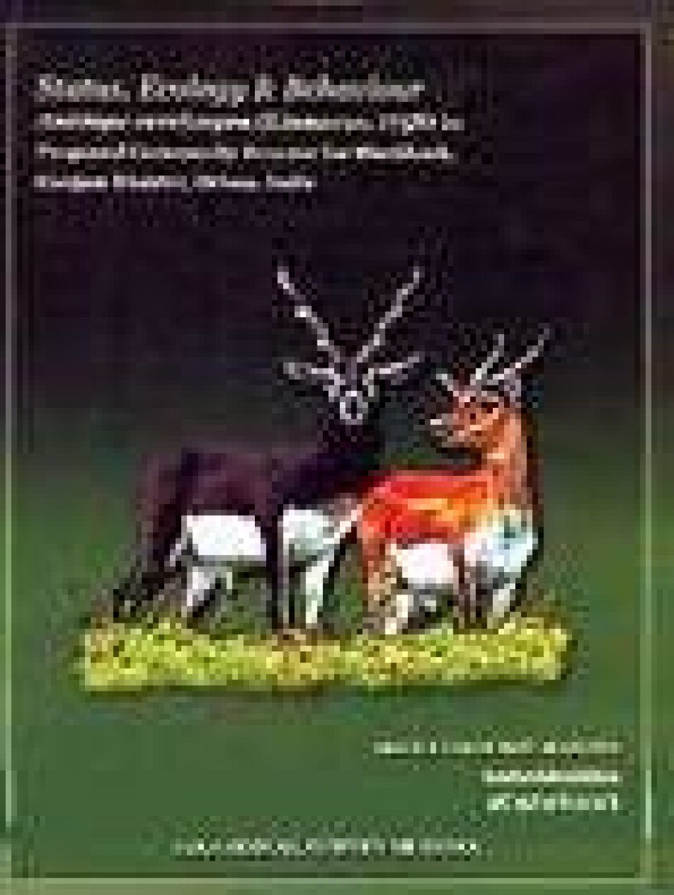 Status, Ecology and Behaviour of Antilope Cervicapra (Linnaeus, 1758) in Proposed Community Reserve for Balckbuck, Ganjam District, Orissa