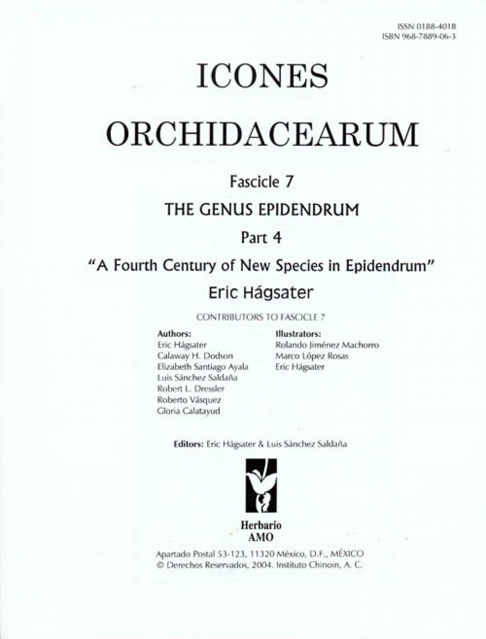 Icones Orchidacearum, Fascicle 7