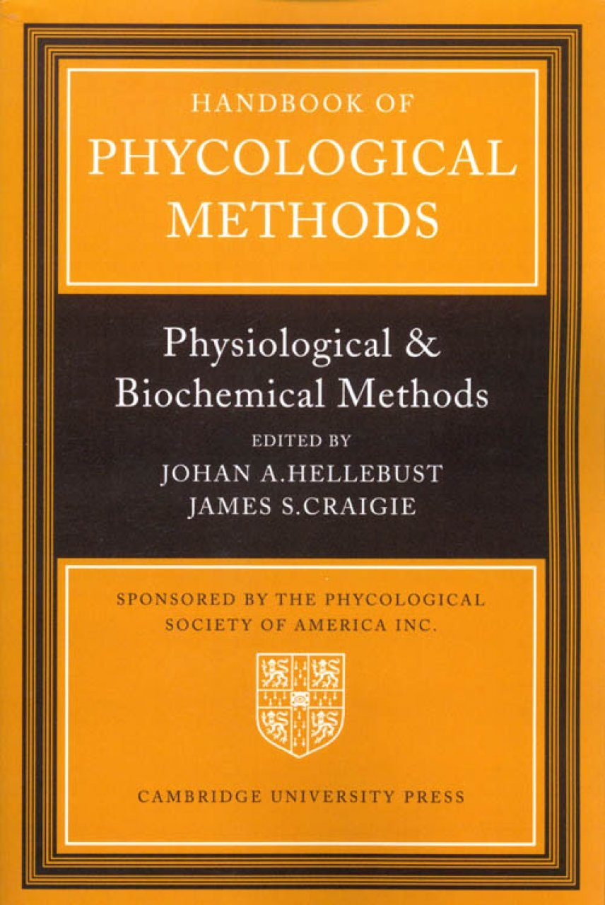 Handbook of Phycological Methods, Volume 2
