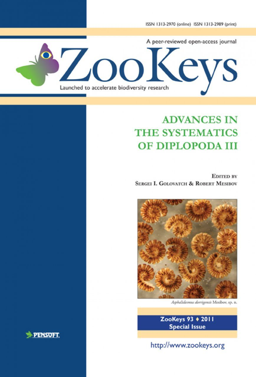 ZooKeys 93: Advances in the Systematics of Diplopoda III