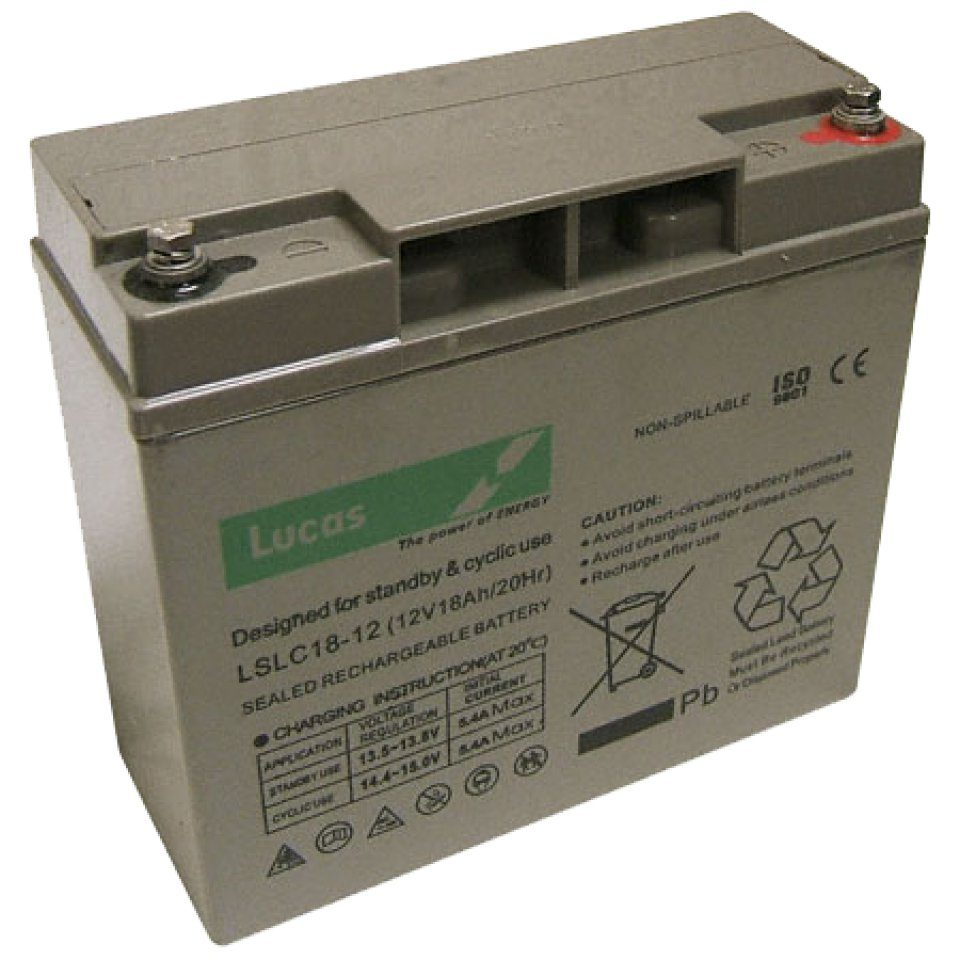 Lucas Rechargeable 12V 18Ah Battery
