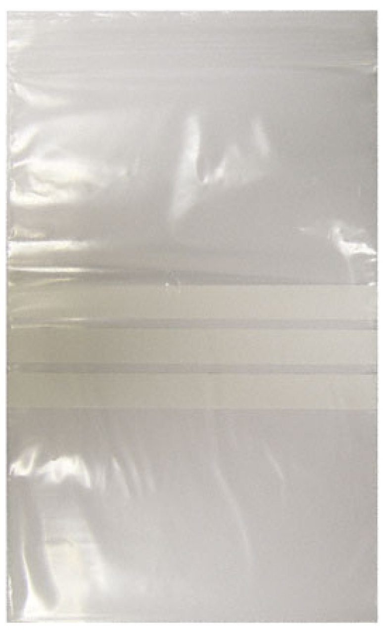 Self-Seal Polythene Sample Bags x 100