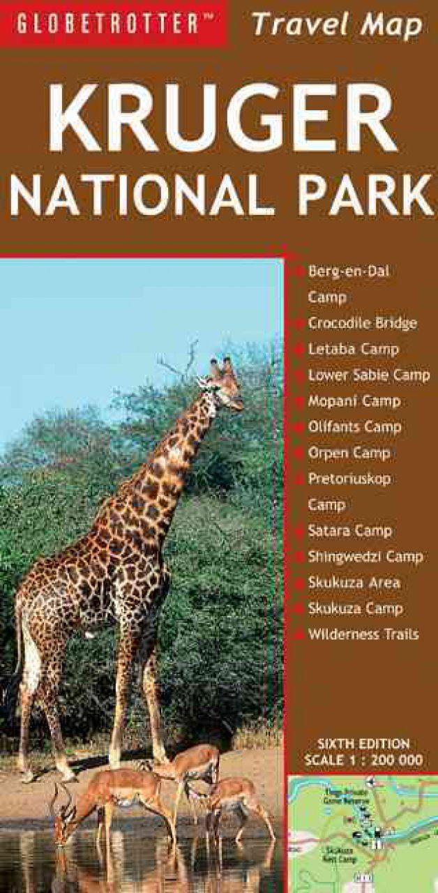 Kruger National Park: Globetrotter Travel Map
