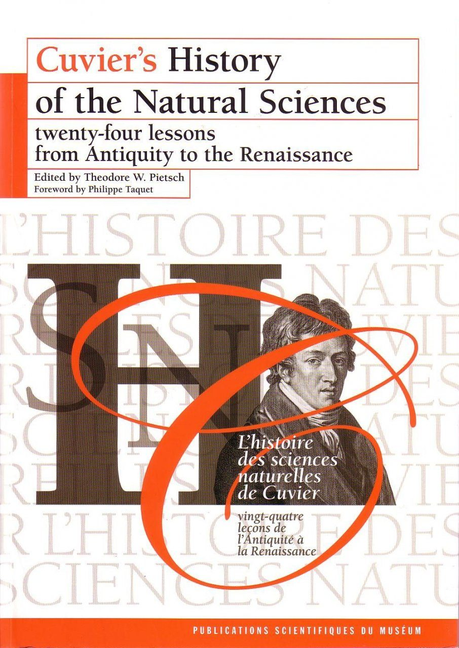 Cuvier's History of Natural Sciences, Volume 1 / L'Histoire des Sciences Naturelles de Cuvier, Volume 1