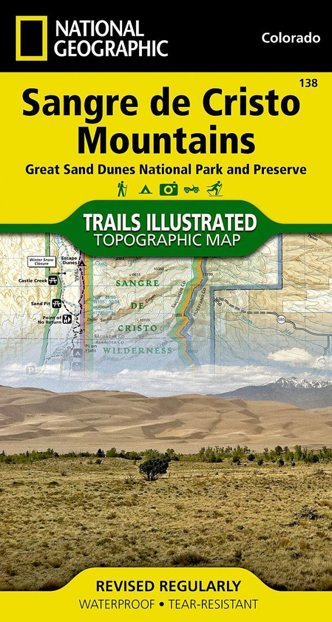 Colorado: Map for Sangre De Cristo Mountains, Great Sand Dunes National Park