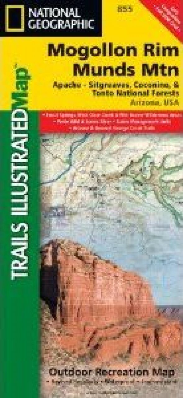 Arizona Map For Mogollon Rim Munds Mountain Wilderness Areas