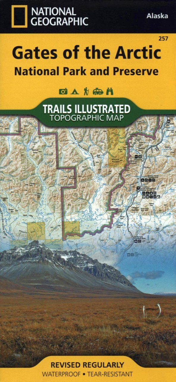 Alaska: Map for Gates of the Arctic National Park and Preserve