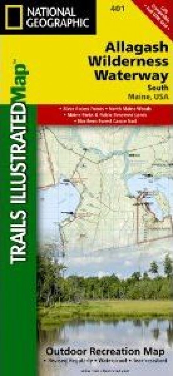 Maine: Map for Allagash Wilderness Waterway, South