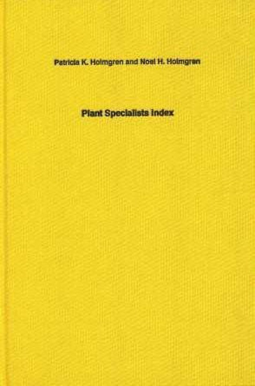 Plant Specialists Index
