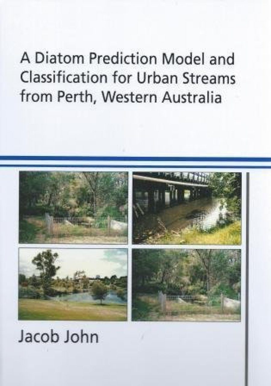 A Diatom Prediction Model and Classification for Urban Streams from Perth, Western Australia