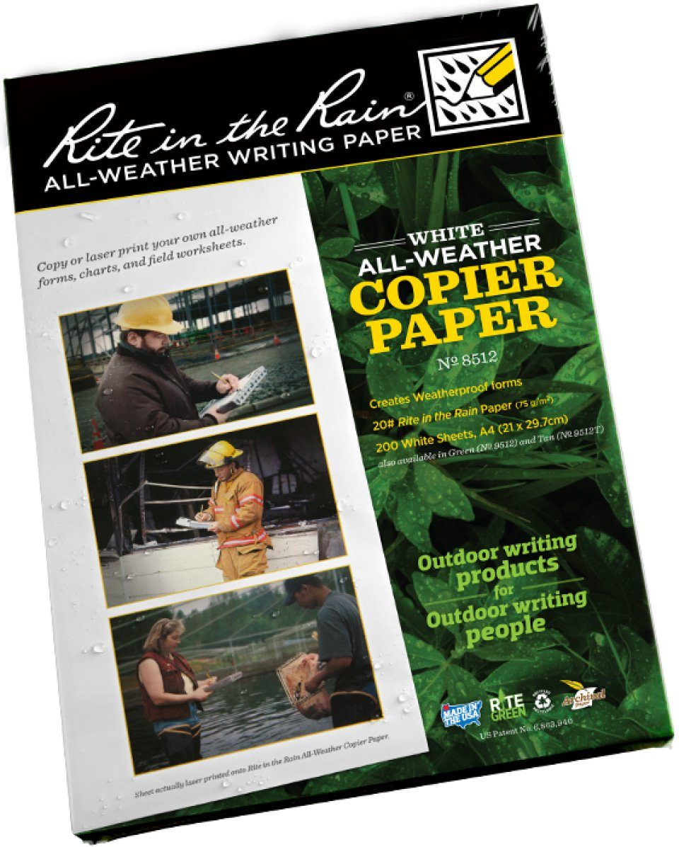 "White Waterproof A4  Paper /"" Rite in the rain/"" RITR All weather writing paper"
