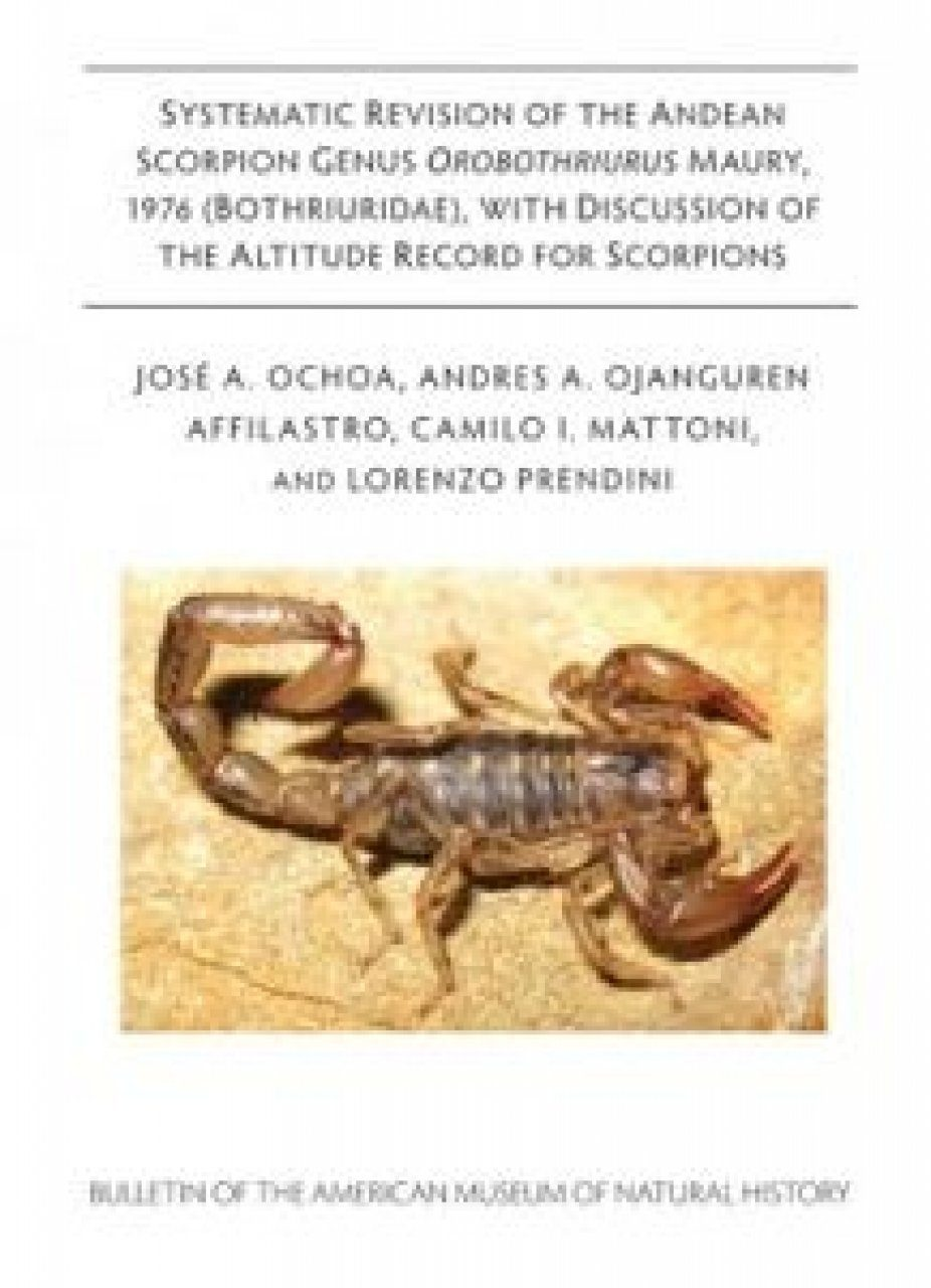Systematic Revision of the Andean Scorpion Genus Orobothriurus Maury