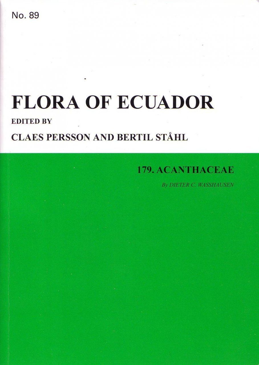 Flora of Ecuador, Volume 89, Part 179: Acanthaceae
