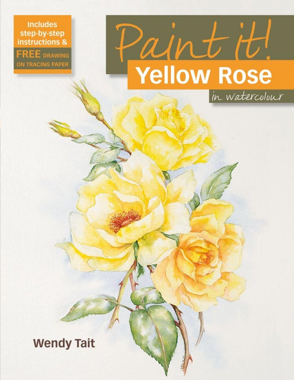 Yellow Rose in Watercolour