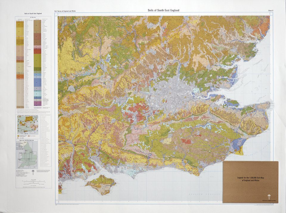 Soils of England and Wales, Sheet 6 (Flat): South East England