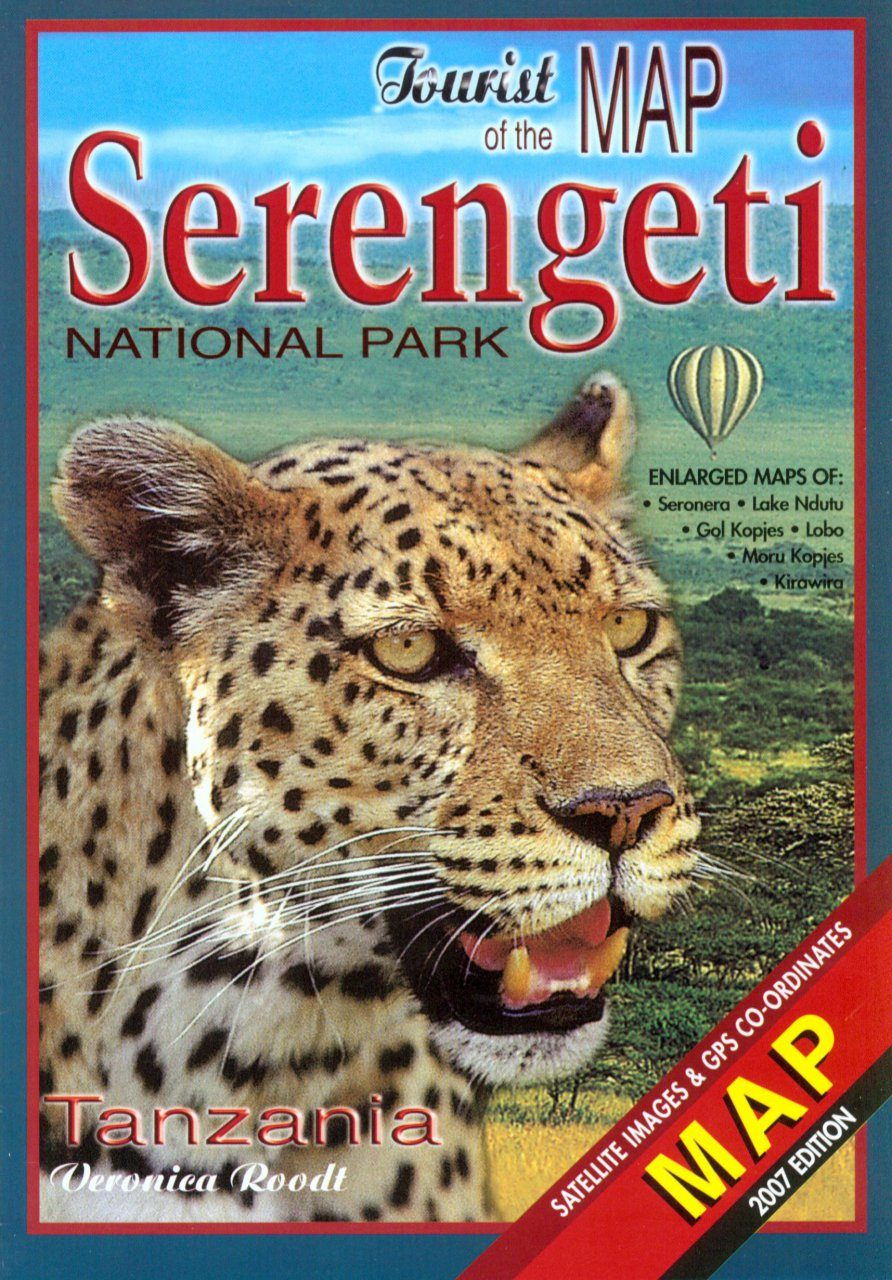 Tourist Map of the Serengeti National Park with Enlarged Maps