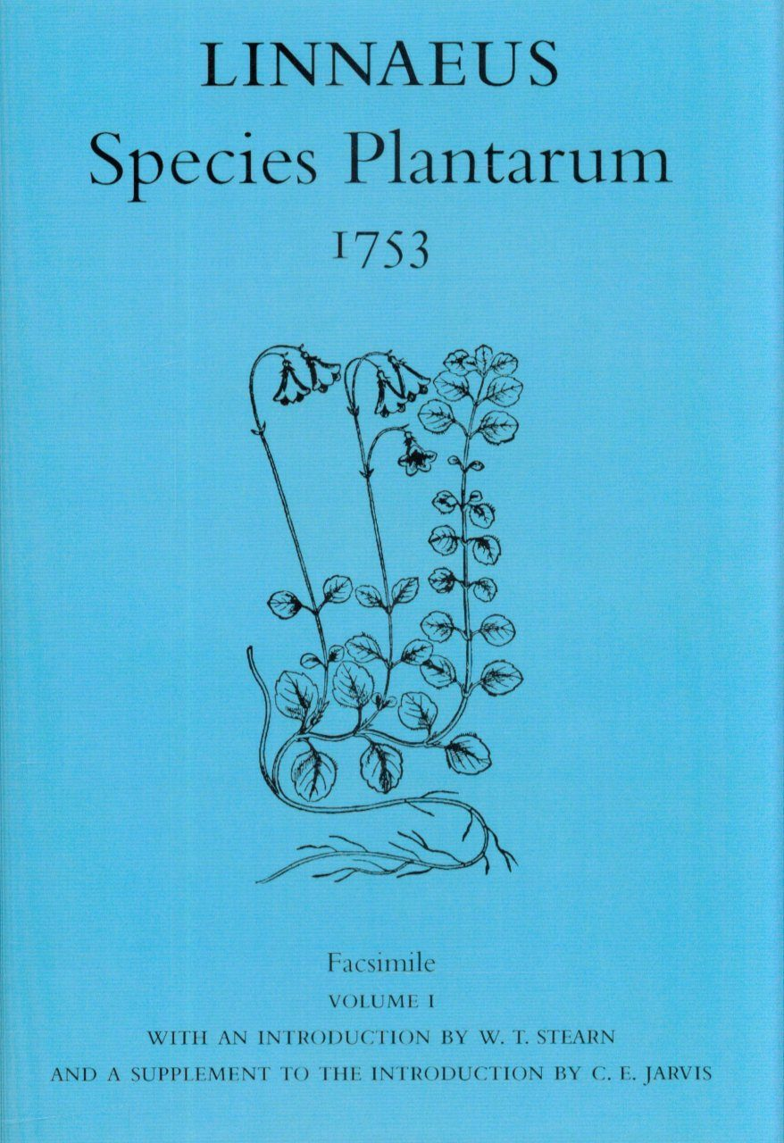 Species Plantarum 1753 Facsimile, Volume 1