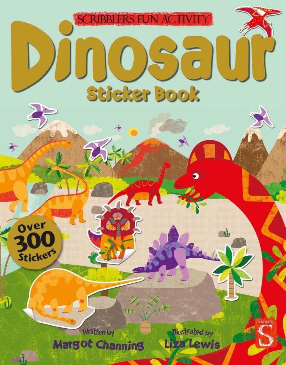 The Scribblers Fun Activity Dinosaur Sticker Book