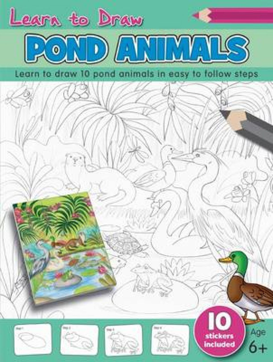 Learn to Draw: Pond Animals