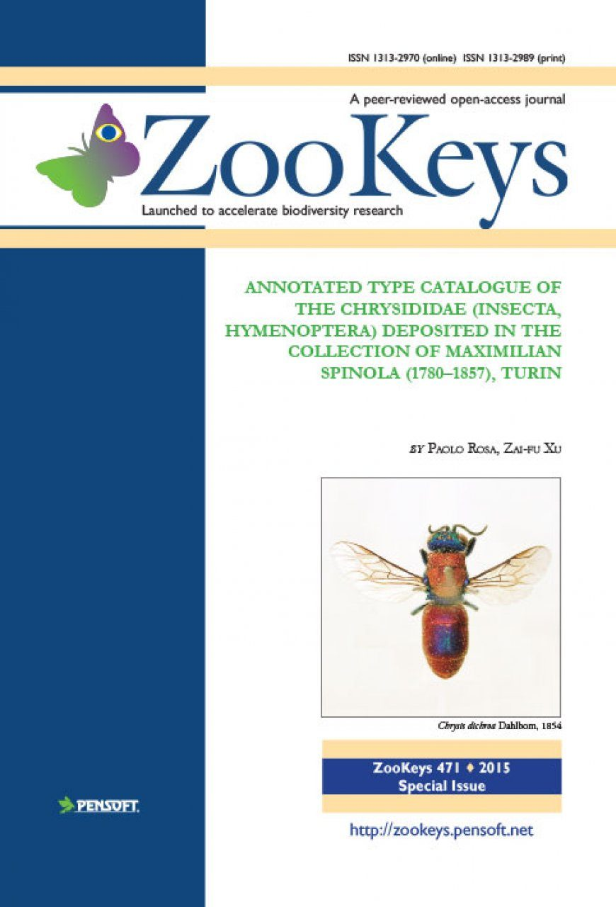 ZooKeys 471: Annotated Type Catalogue of the Chrysididae (Insecta, Hymenoptera) Deposited in the Collection of Maximilian Spinola (1780–1857), Turin